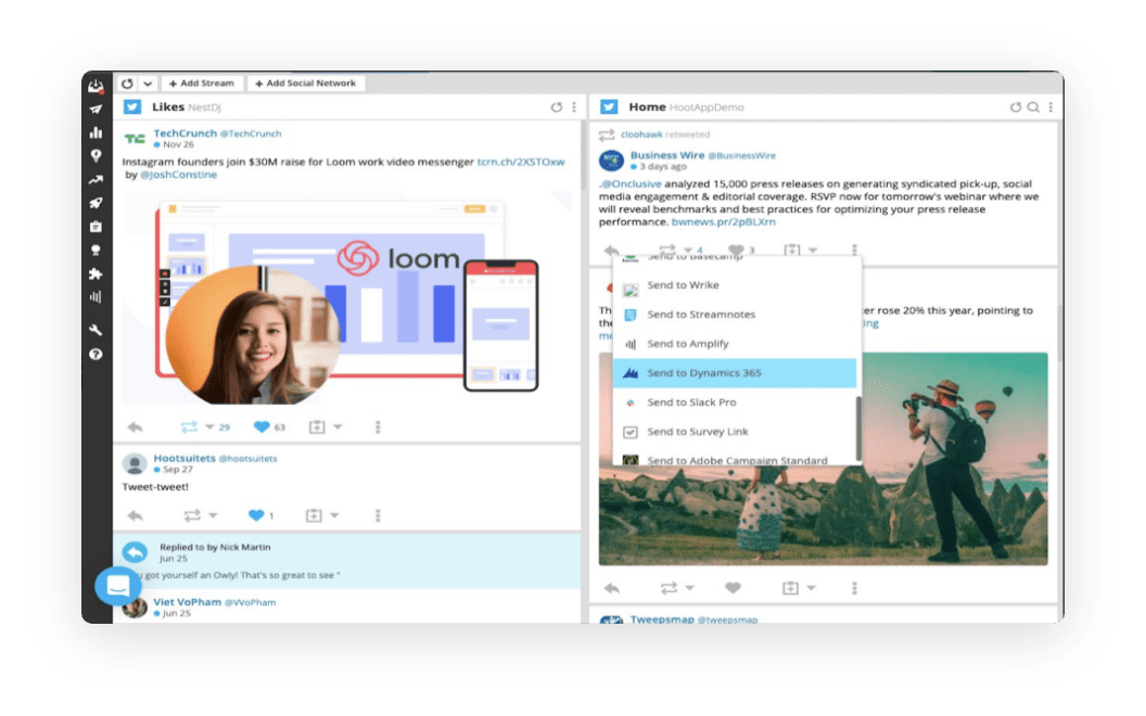 Hootsuite for Dynamics 365