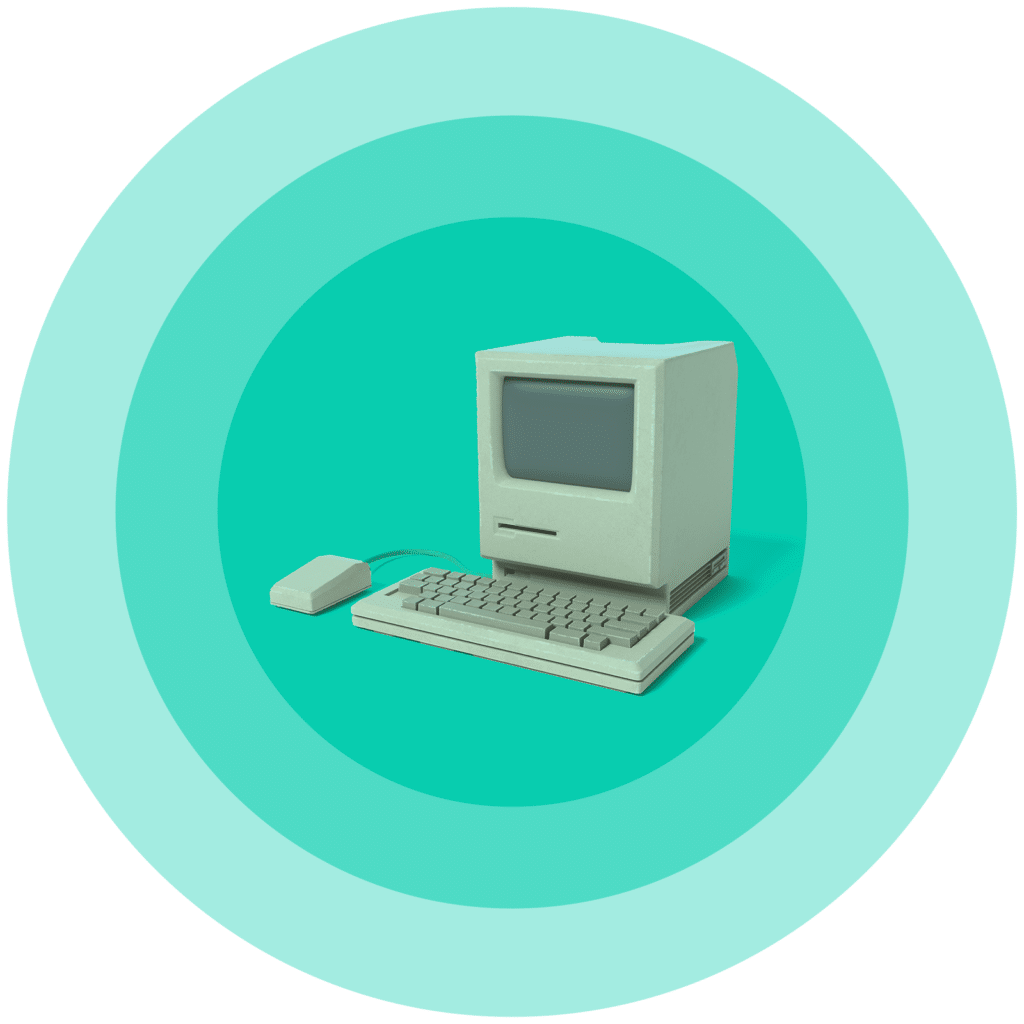 vintage=computer-green-history-of-CRM