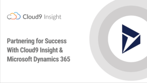 partnering for success with cloud9 insight