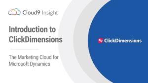 Clickdimension marketing module